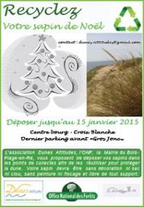 Un sapin recyclé, une dune sauvée.